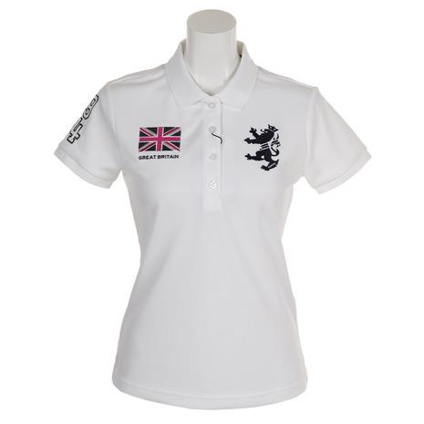 アドミラル(Admiral) ゴルフウェア レディース フラッグ 半袖ポロシャツ ADLA957-WHT (Lady's)