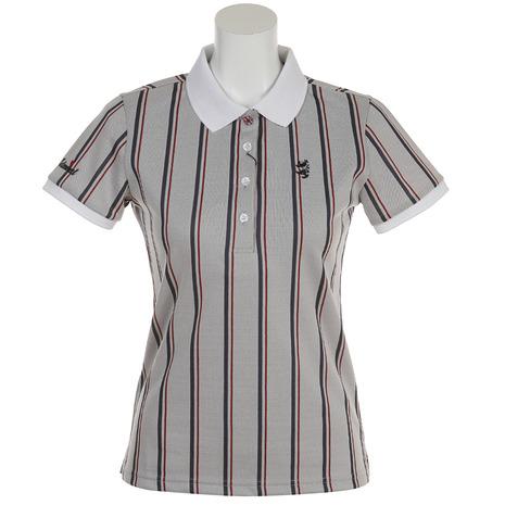 アドミラル(Admiral) レジメンタル ポロシャツ ADLA809-WHT (Lady's)