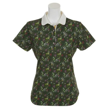 CLAIR+PLUS ゴルフウェア レディース フラワー半袖シャツ 92-2182841-27 (Lady's)