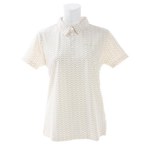 ヒールクリーク(HEAL CREEK) ゴルフウェア レディース ウェーブプリントコンチェロ 半袖シャツ 002-29542-032 (Lady's)