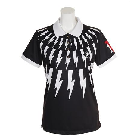 V12 ポロシャツ THUNDER POLO V121910L-CT21-BLK (Lady's)