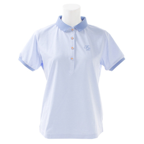フォーリアブリランテ(FogliaBrillante) レディース ゴルフウェア レディース (Lady's) ゴルフウェア プリント半袖ポロシャツ FBAL-PO21-BLU (Lady's), カーテンメーカーくれない直販店:4ded0115 --- sunward.msk.ru