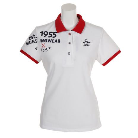 マンシングウエア(MUNSING WEAR) ゴルフウェア レディース 肩アップリケ半袖シャツ MGWNJA21-WH00 (Lady's)