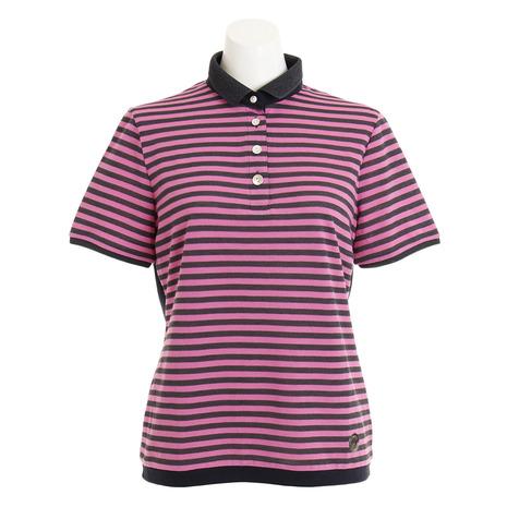 ランバン(LANVIN) (Lady's) ゴルフウェア レディース バックレースボーダー 半袖ポロシャツ ゴルフウェア VLN155230N-PK04 レディース (Lady's), 屋久島ウコンの里:8bfef7d4 --- sunward.msk.ru