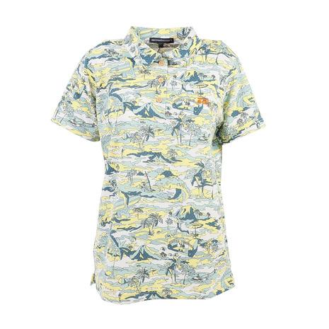 ロサーセン(ROSASEN) エコクールマックスサッカープリント半袖ポロシャツ 045-22442-023 (Lady's)