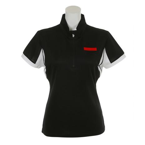 ジュンアンドロぺ(JUN&ROPE) エクスクールトリコットスタンドポロシャツ ERM2803-01 半袖 (Lady's)