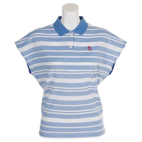 マンシングウエア(MUNSING WEAR) ゴルフウェア レディース マルチボーダー半袖シャツ MGWNJA17-BL00 (Lady's)