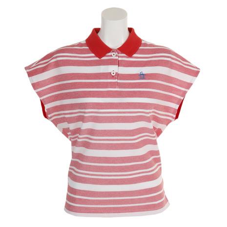 マンシングウエア(MUNSING WEAR) ゴルフウェア レディース マルチボーダー半袖シャツ MGWNJA17-RD00 (Lady's)