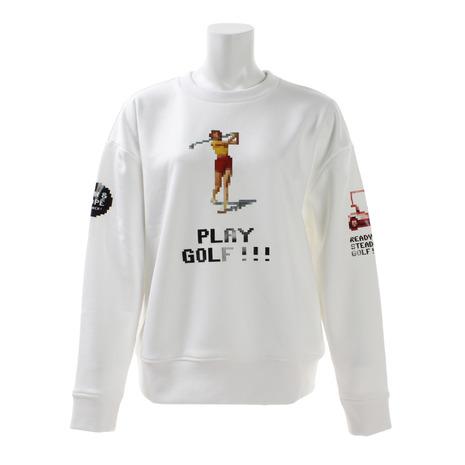 ジュンアンドロぺ(JUN&ROPE) ゴルフウェア レディース ピクセルプリントプルオーバー ERM79000-10 (Lady's)