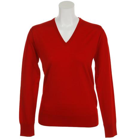 サマス(SAMAS) PULL V neck L/slv GNC-D03 RED (Lady's)