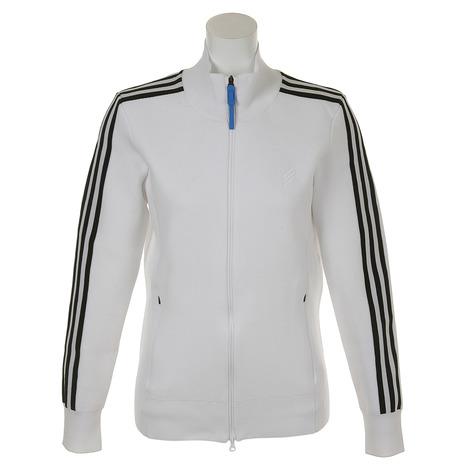 アディダス(adidas) adicross 3ストライプL/S セータージャケット FKE42-DT8267ホワイト (Lady's)