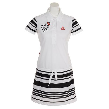 ルコック QGWNJJ02-WH00 スポルティフ(Lecoq Sportif) ゴルフウェア ルコック レディース 鹿の子ボーダーワンピース QGWNJJ02-WH00 ゴルフウェア (Lady's), 最上の品質な:22b59513 --- sunward.msk.ru