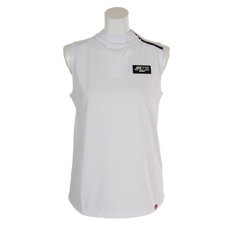 ジュンアンドロぺ(JUN&ROPE) ゴルフウェア レディース スタンドカラーノースリーブシャツ ERM49090-10 (Lady's)