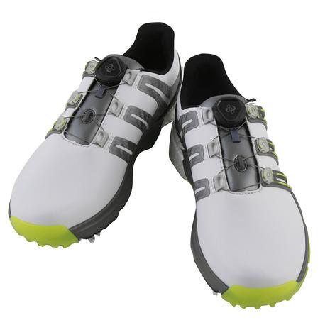 アディダス(adidas) ゴルフシューズ パワーバンド ボア ブースト ボア (メンズ) ブースト Q44848 W パワーバンド/Y (Men's), 2019春の新作:a4ef638b --- sunward.msk.ru