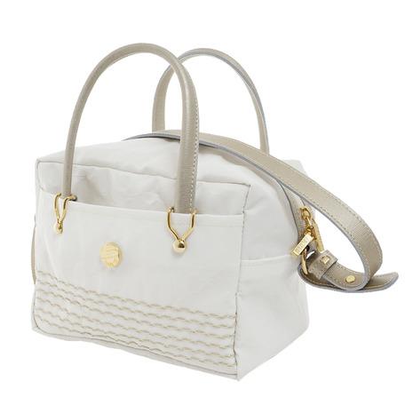 456601 (Lady's) カートバッグホワイト Bonfanti