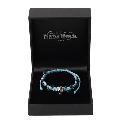 ナチュロック(Natu Rock) 溶岩ブレスレット アースモデルスカル ターコイズ E-SK-0806TQ (Men's、Lady's)