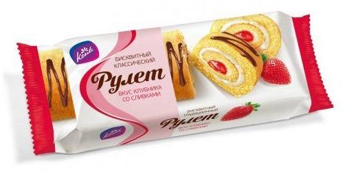 NEW売り切れる前に☆ ロシア ロールケーキ ストロベリー ストロベリークリームロールケーキ 輸入菓子 格安激安