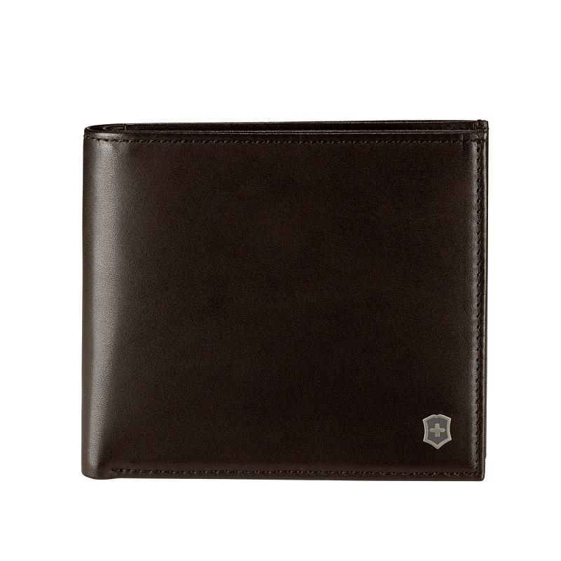 VICTORINOX(ビクトリノックス)公式 アルティウスエッジ ピタゴラス 二つ折り財布 ダークアース (ダークブラウン)【日本正規品】財布 さいふ 男性向け mens メンズ 605331