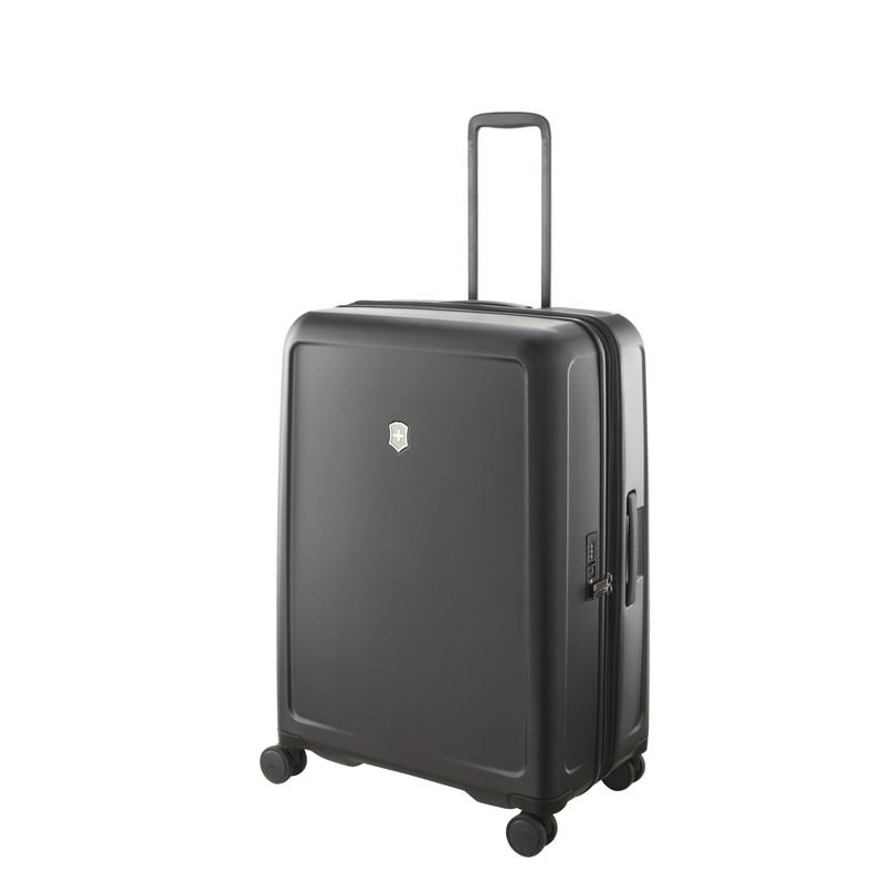 VICTORINOX(ビクトリノックス)公式 CONNEX / コネックス ラージ ハードサイドケース(ブラック) 約 107-121 L ビジネスバッグ ブリーフケース 軽量 旅行 大容量【日本正規品】605671