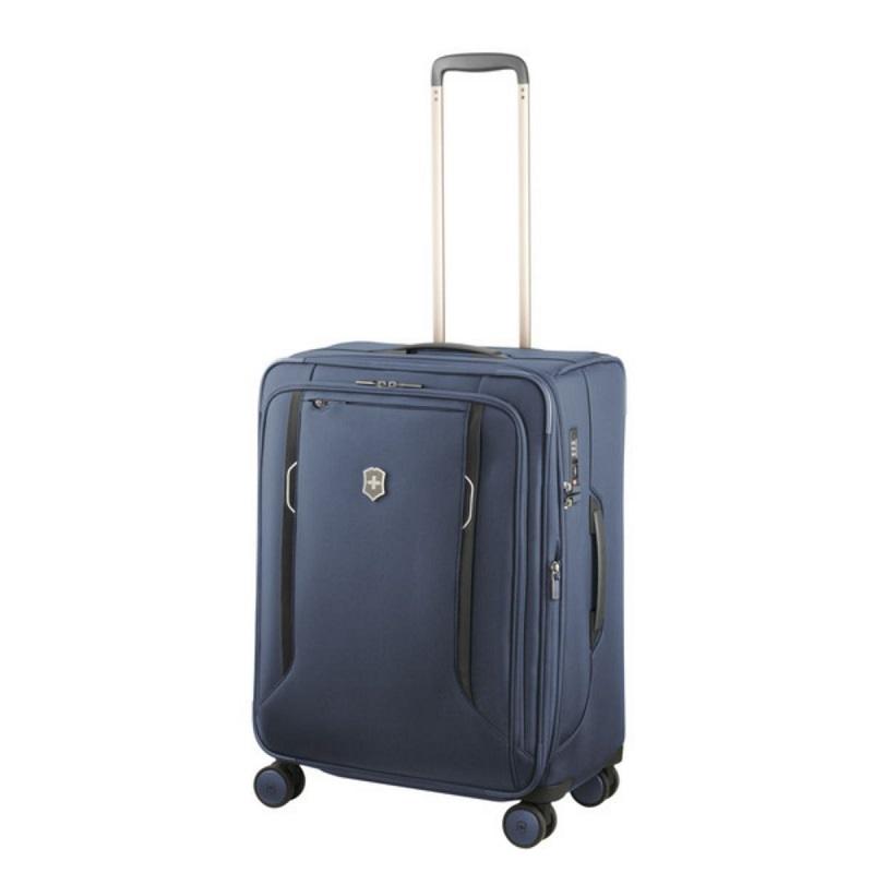 VICTORINOX(ビクトリノックス)公式 Werks Traveler ワークストラベラー 6.0 ソフトサイド ミディアムケース ブルー【日本正規品】605409 拡張機能 スーツケース M