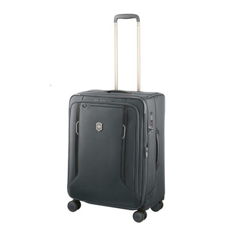 VICTORINOX(ビクトリノックス)公式 Werks Traveler ワークストラベラー 6.0 ソフトサイド ミディアムケース グレー【日本正規品】605410 容量拡張 ソフトスーツケース M