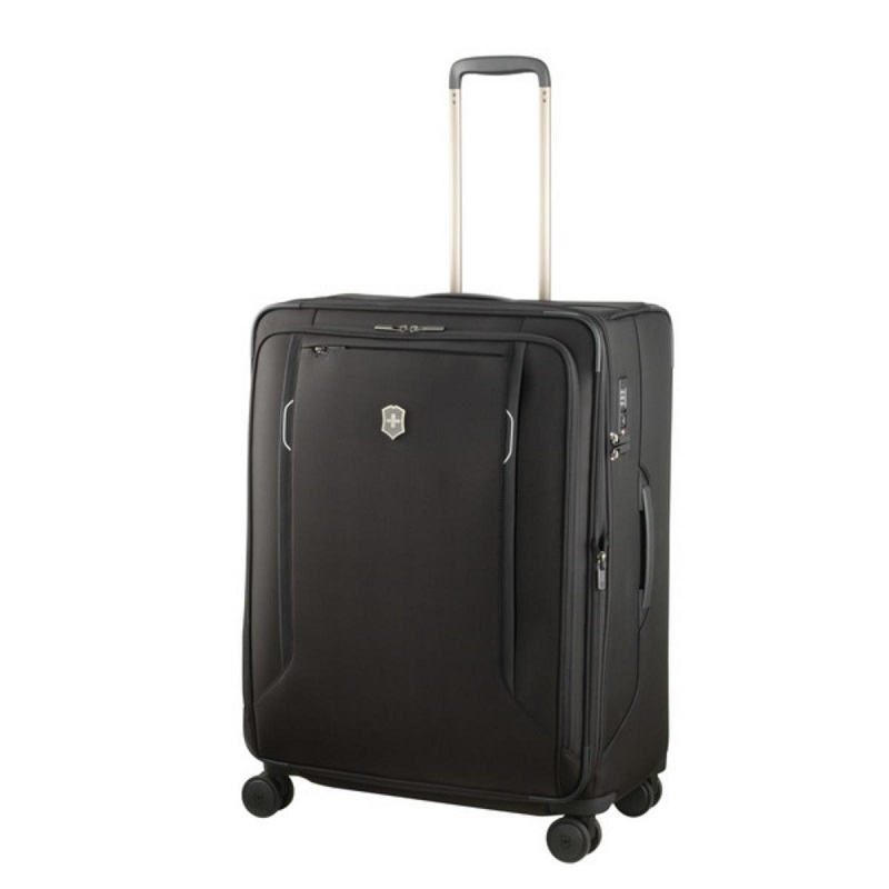 VICTORINOX(ビクトリノックス)公式 Werks Traveler ワークストラベラー 6.0 ソフトサイド ラージケース ブラック【日本正規品】605411 容量拡張 ソフトスーツケース L