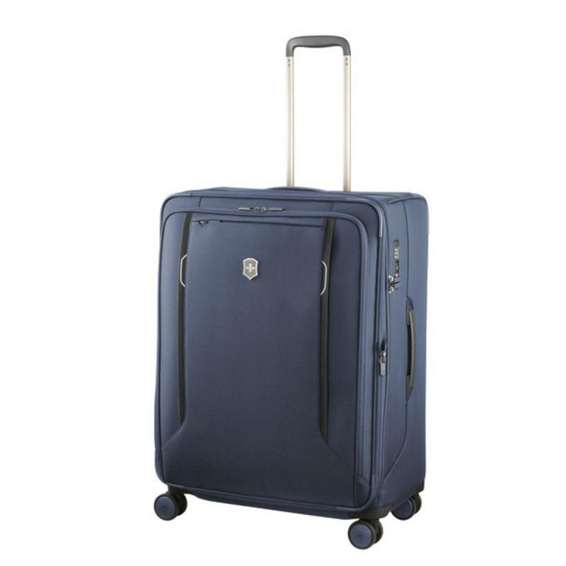 VICTORINOX(ビクトリノックス)公式 Werks Traveler ワークストラベラー 6.0 ソフトサイド ラージケース ブルー【日本正規品】605412 拡張機能 スーツケース L