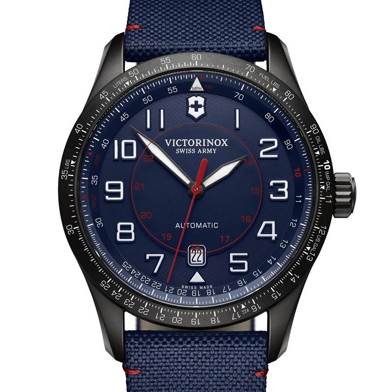 VICTORINOX(ビクトリノックス)公式 AIRBOSS (エアボス) ナイロンストラップ【日本正規品、3年間保証付】241820 時計 防水 スイス ブルー 時計 ウォッチ