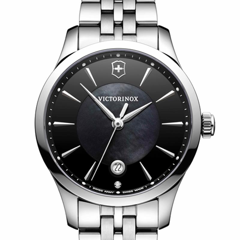 VICTORINOX(ビクトリノックス)公式 ALLIANCE SMALL (アライアンス スモール)ステンレススチールブレスレット【日本正規品、3年間保証付】241751 時計 腕時計 クォーツ 防水 スイス マザー・オブ・パール