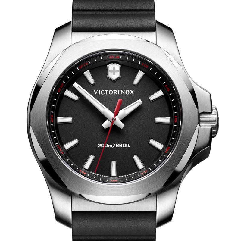 VICTORINOX(ビクトリノックス)公式 I.N.O.X. V イノックスV 【日本正規品、保証書付】 241768 ラバーストラップ ブラック 時計 ウォッチ