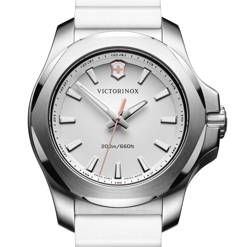 VICTORINOX(ビクトリノックス)公式 I.N.O.X. V イノックスV 【日本正規品、保証書付】 241769 天然ラバーストラップ ホワイト ウォッチ 時計