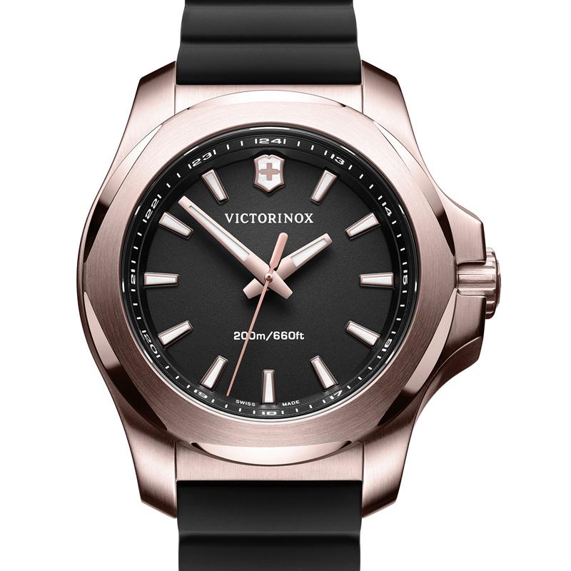 VICTORINOX(ビクトリノックス)公式 I.N.O.X. V イノックスV 【日本正規品、保証書付】 241808 天然ラバーストラップ ブラック 時計 ウォッチ