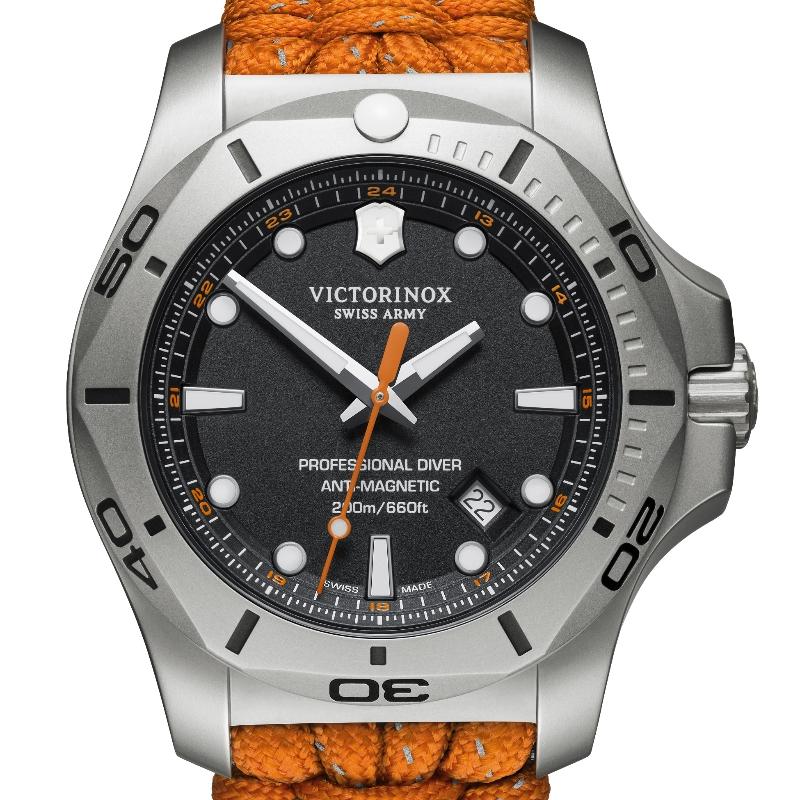 VICTORINOX(ビクトリノックス)公式 I.N.O.X. イノックス プロフェッショナルダイバー【日本正規品、保証書付】241845 パラコードストラップ (オレンジ) 時計 ウォッチ