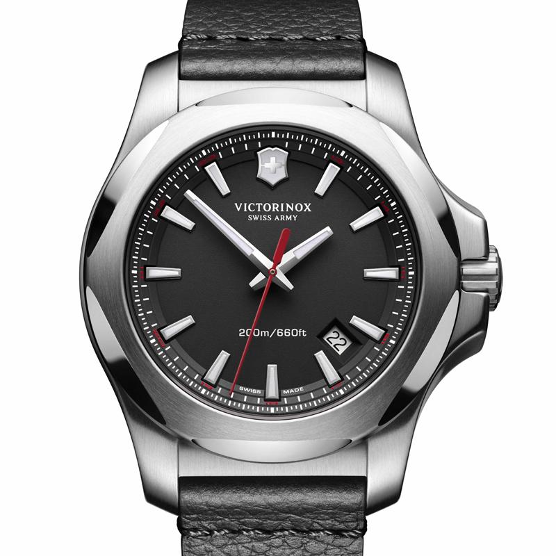 VICTORINOX(ビクトリノックス)公式 I.N.O.X. イノックス 【日本正規品、保証書付】 241737 レザーストラップ ブラック 時計 ウォッチ