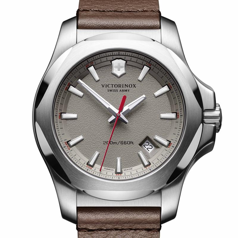 VICTORINOX(ビクトリノックス)公式 I.N.O.X. イノックス 【日本正規品、保証書付】 241738 レザーストラップ グレー ウォッチ 時計