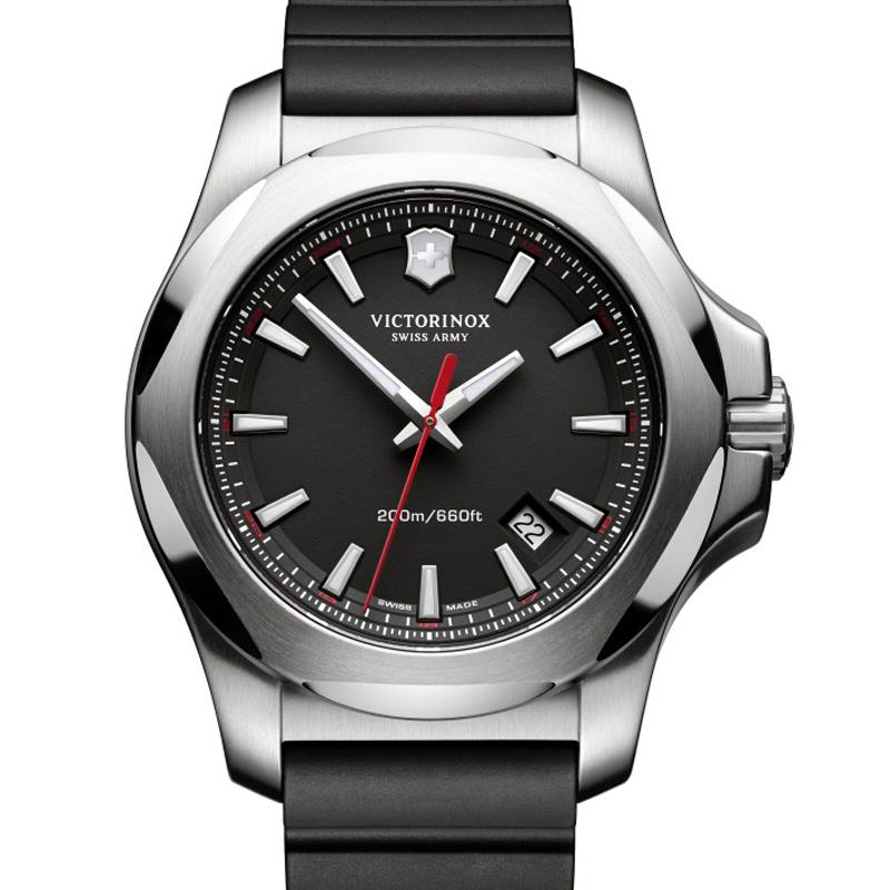 VICTORINOX(ビクトリノックス)公式 I.N.O.X. イノックス 【日本正規品、保証書付】 241682.1 ラバーストラップ ブラック 時計 ウォッチ
