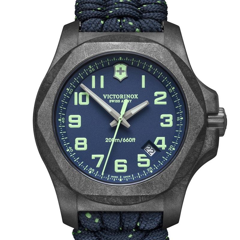 VICTORINOXビクトリノックス公式オンラインストア マルチツールの伝統を引き継ぐ品質と機能性のトラベルギア ウォッチ バッグ 公式 ビクトリノックス VICTORINOX I.N.O.X. CARBON イノックスカーボン ブルーパラコードストラップ 時計 241860 日本正規品 メンズ 腕時計 デポー スイス製 値引き 防水 保証書付