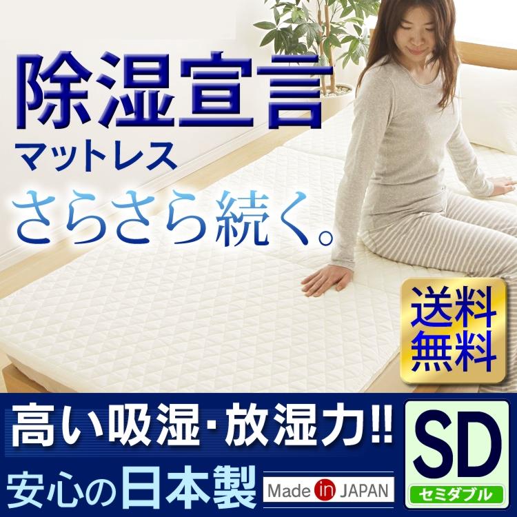 【送料無料】【D】除湿宣言マット SD BMVS4451 IV セミダブル【マット 除湿 セミダブル】