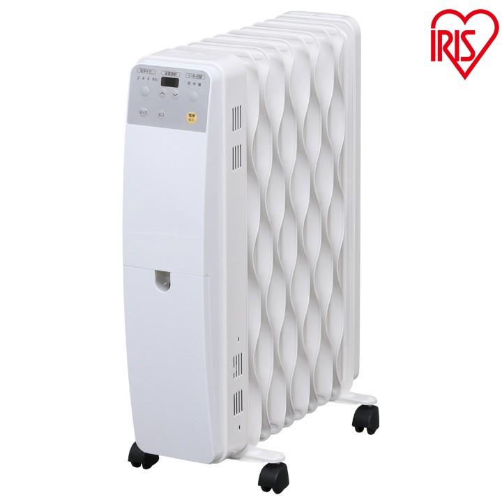 送料無料 ウェーブ型オイルヒーター IWH-1210M-W アイリスオーヤマ ヒーター オイルヒーター 暖房 暖房器具 シンプル コンパクト 安全 おしゃれ かわいい 新生活 冬 暖かい リビング 白 ホワイト 子供部屋 新生活