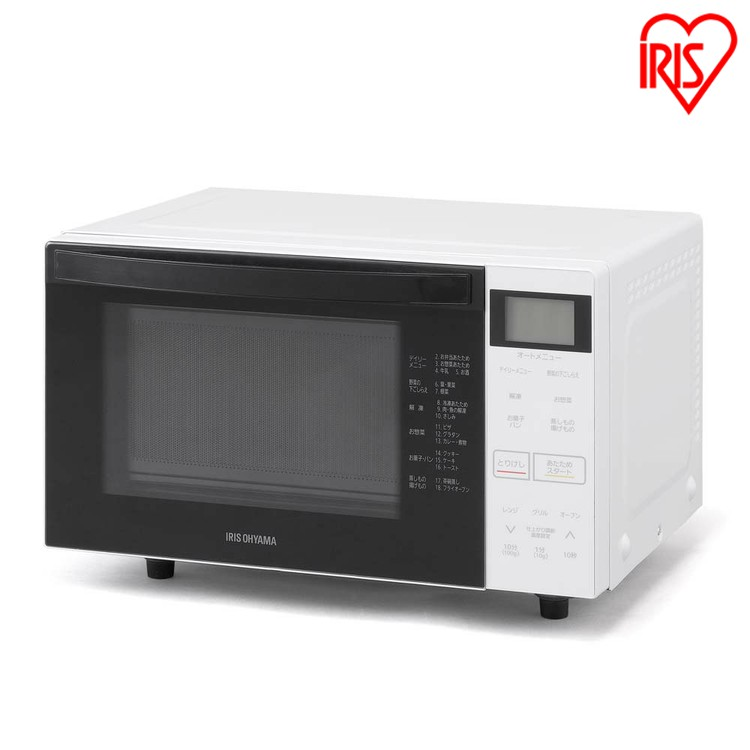 オーブンレンジ 18L ホワイト MO-F1807-W送料無料 オーブンレンジ オーブン レンジ 電子レンジ グリル オーブン 料理 キッチン 調理器具 でんしれんじ デンシレンジ アイリスオーヤマ