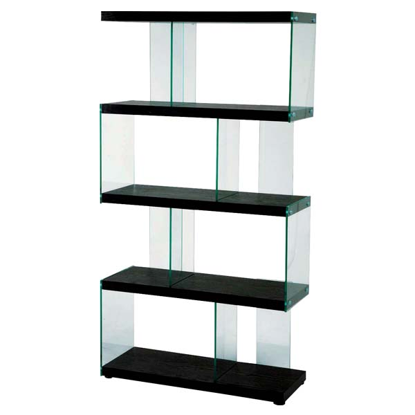 Rack Partitioning Opening Shelf Having S Shaped IS 684 Black Type Wooden Glass Fashion North Europe Display Case