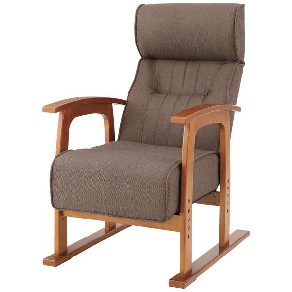 【送料無料】【TD】クレムリン キング高座椅子THC-106 ブラウン【ソファ ソファー 一人掛け リクライニングソファ リクライニングソファー リクライングチェアー 1人掛けソファー オットマン付き 椅子 いす】【取寄品】【東谷】