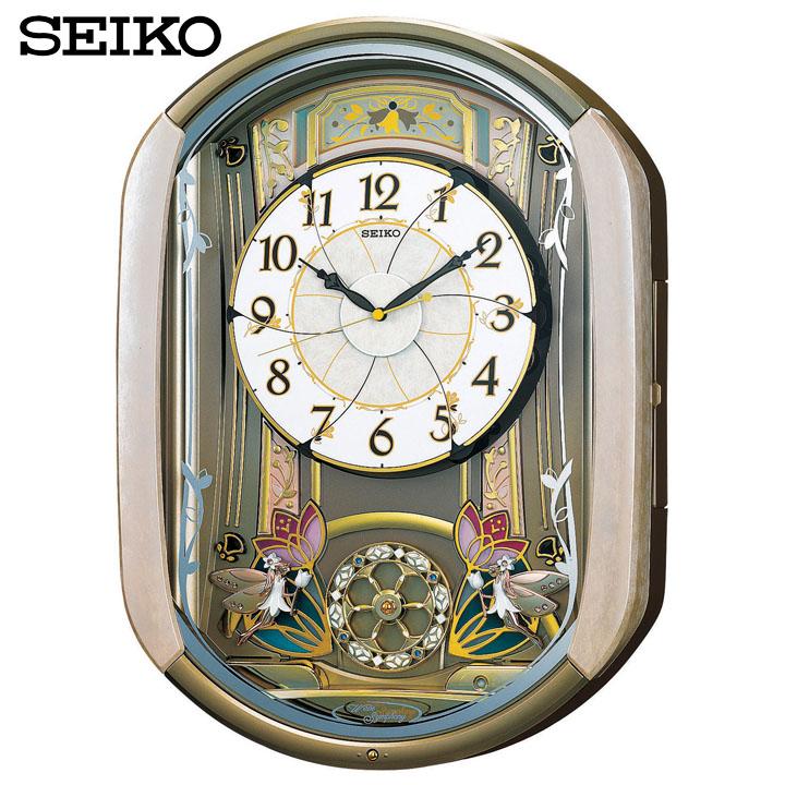 【送料無料】【電波時計 置時計】からくり時計【時計 ウォッチ】セイコー RE567G 【TC】【HD】 新生活