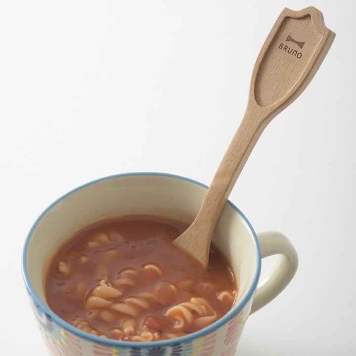 BRUNO ウッドツール スープスプーン ナチュラルウッド BHK143-NW木製スプーン スープジャー カトラリー ランチ イデアインターナショナル