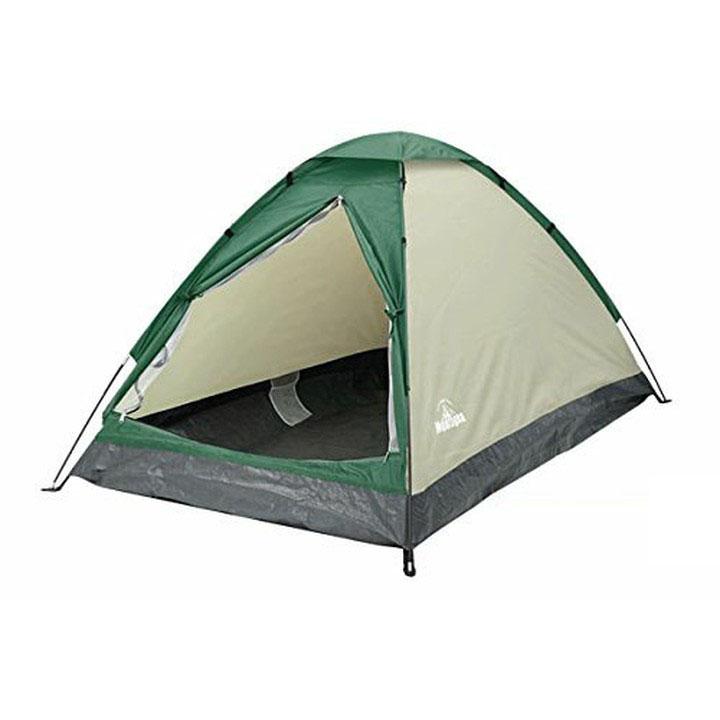 組立式 2人用 ドームテント HAC1728テント ドームテント キャンプ フルクローズ 簡単 組立て 工具不要 アウトドアグッズ montagna ハック イエロー グリーン レッド