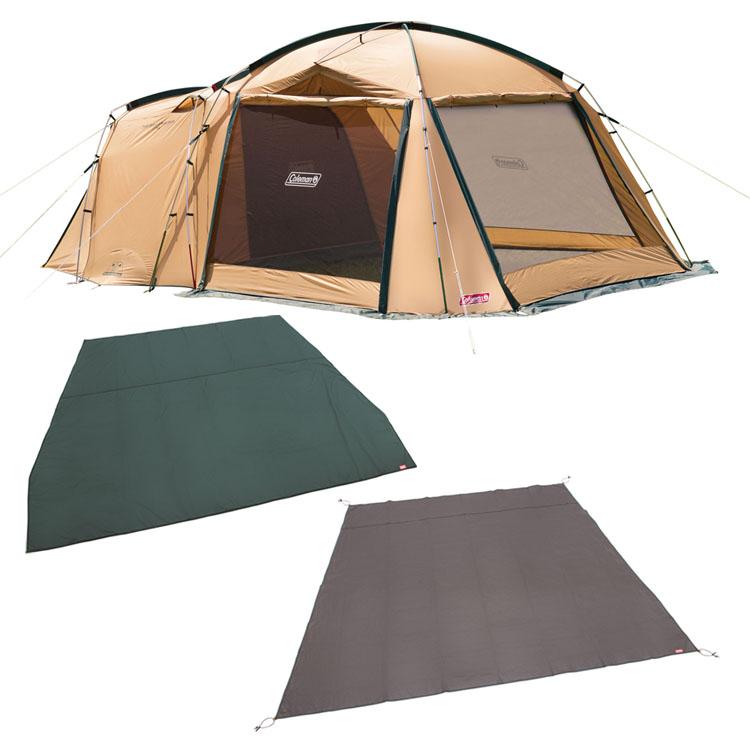 タフスクリーン2ルームハウス テントシートセット付 2000031571送料無料 ドーム型テント テント ドーム型 4人用 5人用 セット Coleman アウトドア キャンプ マット インナーシート グランドシート コールマン 【D】