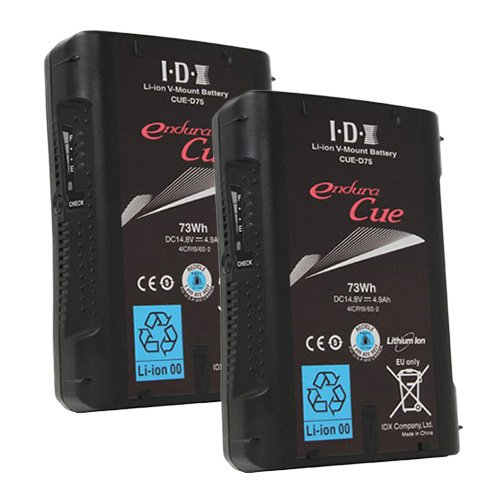 IDX CUE-D75 2本 Vマウントタイプ リチウムイオンバッテリー