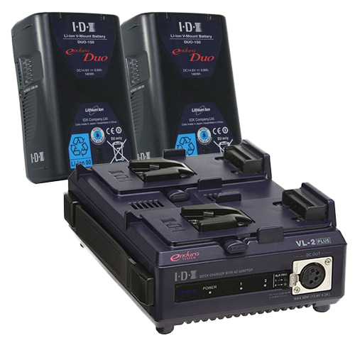 IDX DUO-150 2本+VL-2PLUS Vマウントバッテリー・充電器セット