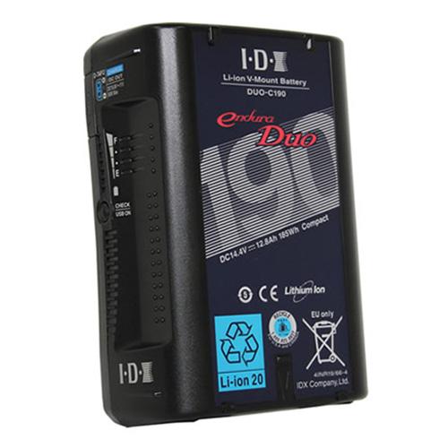 IDX DUO-C190 Vマウントタイプ リチウムイオンバッテリー