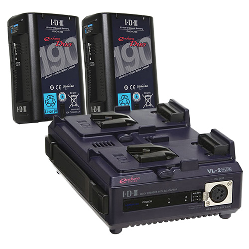 IDX DUO-C190 2本+VL-2PLUS Vマウントバッテリー・充電器セット